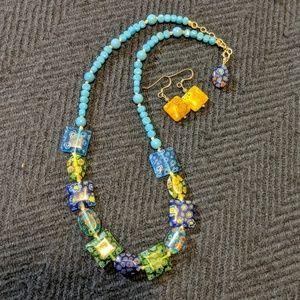 Gorgeous Vintage Glass Jewelry Set